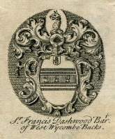 Bookplate of Sir Francis Dashwood Bart of West Wycombe Bucks