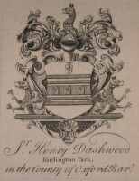 Bookplate of Sir Henry Watkin Dashwood of Kirtlington Park Oxford Click for larger image