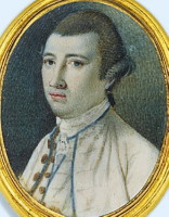 Miniature portrait of John Graham Esq  1741-1775  of  the  East  India  Company  and  of  the  Supreme  Council  of  Calcutta,  Bengal.  Click for larger image.
