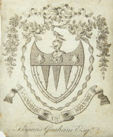 Bookplate of Thomas Graham. Click for larger  image.