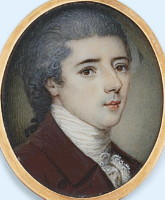 Miniature Portrait of Thomas Graham 1752-1719 of Kinross Scotland.  Click for larger image.