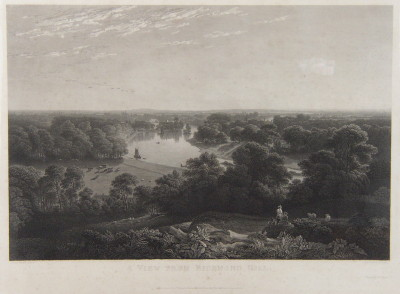 A View From Richmond Hill engraved by Charles Heath from the painting by Thomas Christopher Hofland.  Published 1822.