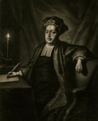 Robert Camell LLD (died 1732) rector of Bradwell in Suffolk. Portrait painted and engraved by the artist John Theodore Heins of Norfolk. Click for larger image.