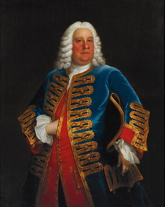 Portrait of George Frederick Handel painted by John Theodore Heins. Click for larger image.