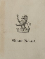 Bookplate of William Holland.  Click for larger image.
