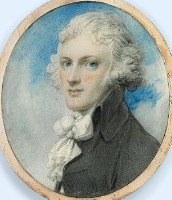 Miniature Portrait of Sir James Montgomery 1766-1839 Painted by the artist Ricard Cosway 1742-1821 painter. Click for larger image.