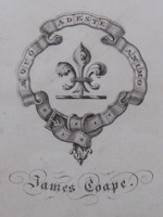 Bookplate of James Coape Click for larger image