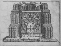 Bookplate of Henry Coape of Duffield, Derbyshire Click for large image