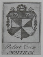 Bookplate of Robert Crowe (Crowe) book plate ex-libris Click for large image
