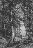 Etching of Eastbury Woods. 