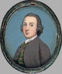 Gervase Spencer Self Portrait 1715-1763 Artist and miniature portrait painter who was based in London. Click for larger image.