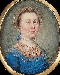Miniature Portrait of an Unknown Lady Painted in 1756 by Gervase Spencer 1715-1763. Click for larger image