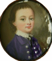 Miniature Portrait of Henry Vansittart 1756-1786 painted by the artist Gervase Spencer 1715?-1763