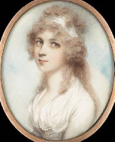 Miniature Portrait of Anna Maria Templer nee Graham 17??-1849 Painted by the artist Andrew Plimer 1763-1837. Click for larger image.