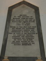 Memorial of Robert Harvey of Watton