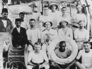 The Crew of the Gun Boat HMS Miner 1913 Click for larger image