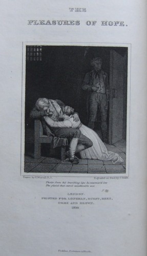 Engraving (1820) from The Pleasures of Hope with Other Poems by Thomas Campbell. Engraved on Steel by the engraver Charles Heath.