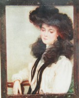 Portrait miniature of a young lady painted by Ernest Dudley Heath Artist and Author 1867-1945