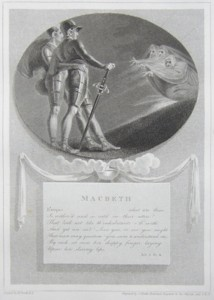 Macbeth Painted by Thomas Stothard RA, Engraved by James Heath Engraver to his Majesty and his RH the Prince of Wales. Click for larger image