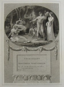 Midsummer Night's Dream Painted by Thomas Stothard RA, Engraved by James Heath Engraver to his Majesty and his RH the Prince of Wales. Click for larger image