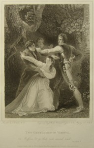 Two Gentlemen of Verona Painted by Thomas Stothard RA, Engraved by James Heath Engraver to his Majesty and his RH the Prince of Wales. Click for larger image