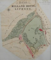 Map of Milland House Estate, Liphook, 1857-1879. Click for larger image