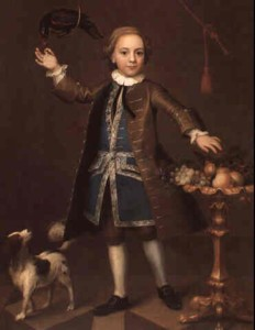 Portrait of a boy painted in 1741 by the artist John Theodore Heins Heine 1697-1756 painter of Norwich Norfolk painting