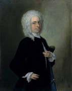 Portrait of John Theodore Heins (Heine) 1697-1756 artist painter Norwich Norfolk