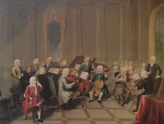 The Music Party painted by the artist John Theodore Heins Heine 1697-1756 painter of Norwich Norfolk