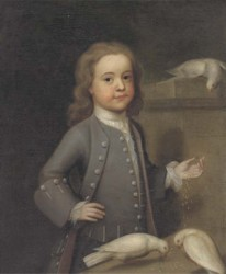 Portrait of Master Harry Spark Patterson 1725-1764 painted by the artist John Theodore Heins Heine 1697-1756 painter of Norwich Norfolk Click for larger