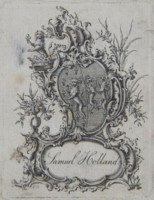 Bookplate of Samuel Holland. Click for larger image