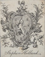 Bookplate of Stephen Holland. Click for larger image