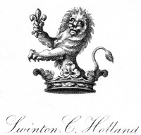 Bookplate of Swinton C Holland. Click for larger image