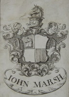 Bookplate of John Marsh click for larger image