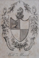 Bookplate of William Marsh the banker 1755-1846. Click for larger image.
