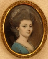 Miniature Portrait of Jane Figgins who married the actor John Henderson 1747-1785 Click for larger image