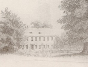 Coulsdon Rectory, 18 June 1835 The home of Mrs Mary Lyall and the Rev Alfred Lyall from a pencil sketch by Mrs Lyall