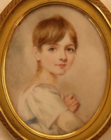 Miniature Portrait of  Graham Francis Moore as a small boy 1806-1883 Click for larger image